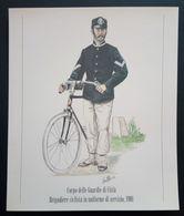 UNIFORMI STORICHE POLIZIA - 1901 CORPO DELLA GUARDIE CITTÀ' - BRIGADIERE CICLISTA - Stampe & Incisioni