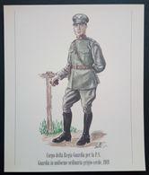 UNIFORMI STORICHE POLIZIA - 1919 CORPO DELLA REGIA GUARDIA PER LA P.S. UNIFORME ORDINARIA GRIGIO-VERDE - Stampe & Incisioni