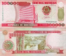 Mozambik 1993 - 100000 Meticais - Pick 139 UNC - Mozambique