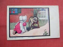 Sunbonnet   Peek A Boo    Ref  3456 - Humorous Cards