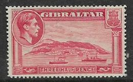Gibraltar George VI, 1938, 1d Carmine, Perf 14, MH * Gum Tone - Gibraltar