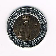 //  MEXICO  1  PESO  2004 - Mexique