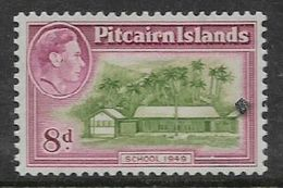 Pitcairn Islands George VI, 1951, 8d, MH * - Stamps