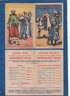 """Carte Double - """"Engagez Vous """" Afrique Du Nord-Maroc-Levant - Illus. Leroux - Descriptif Intérieur,soldes - CPA 1930 - Patriottisch"""