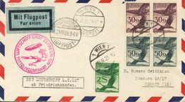 Austria, Airmail. COVER23(2), 25(2), 28. 1929. 30 G Violet, Two Stamps, 50 G Gray, Two Stamps And 2 S Green. VIENA To MA - Austria