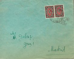 Bulgaria. COVERYv 199(2). (1930ca). 50 St Blue Black And Pink, Two Stamps. WIDIN To MADRID (addressed To Miguel Gálvez). - Bulgaria