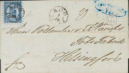 Finland. COVERYv 8. 1867. 20 K Blue (Type III). ABO To HELSINKI. ABO Cancel. VERY FINE. (Facit 8) -- Finlandia. SOBRE Yv - Finlandia