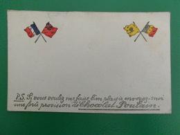 LA GUERRE WW1 CARTE POSTALE CORRESPONDANCE MILITAIRE ANNONCE CHOCOLAT POULAIN - Guerre 1914-18