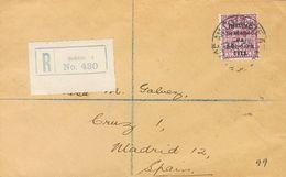 Ireland. COVERYv 9. 1930. 6p Lilac. Registered From DUBLIN To MADRID (addressed To The Famous Philatelic Dealer Gálvez). - Irlanda