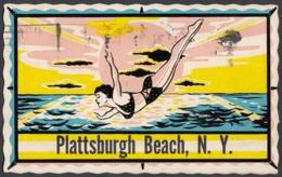 CPA - Plattsburgh Beach - - NY - New York
