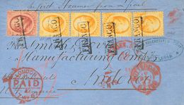 Holanda. SOBREYv . 1867. 10 Cent Red (file Fold) And 15 Cent Orange, Two Vertical Pairs (one Stamp File Fold). ROTTERDAM - Holanda