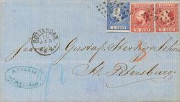 Holanda. SOBREYv . 1871. 5 Cent Blue (Type II, Perforation 13½) And 10 Cent Carmine (Type II, Perforation 13½). ROTTERDA - Holanda