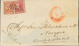 Holanda. SOBREYv . 1871. 10 Cent Carmine (Type II, Perforation 13½) And 15 Cent Orange Brown (Type I, Perforation 13½).  - Holanda