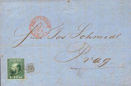Holanda. SOBREYv . 1868. 20 Cent Dark Green (Type I, Perforation 12¾ X 11¾). AMSTERDAM To PRAGUE (present Day CZECH REPU - Holanda