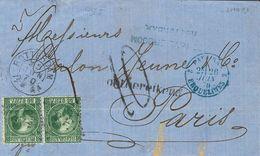 Holanda. SOBREYv 10. 1870. 20 Cent Dark Green (Type I, Perforation 12¾x11¾). ROTTERDAM To PARIS (FRANCE). Cancelled With - Holanda