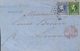 Holanda. SOBREYv . 1869. 5 Cent Blue (Type II, Perforation 10½ X 10¼) And 20 Cent Dark Green (Type I, Perforation 12¾ X  - Holanda