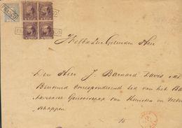 Holanda. SOBREYv . 1868. 5 Cent Blue (Type II, Perforation 12¾x11¾) And 25 Cent Dark Violet (Type II, Perforation 12¾ X  - Holanda