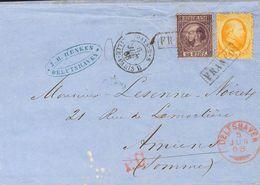 Holanda. SOBREYv 6, 11. 1867. 15 Cts Orange (Haarlem Print) And 25 Cts Dark Violet (small Tear) Of 1867 Issue (Type I, P - Holanda