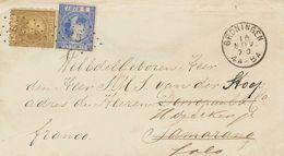 Holanda. SOBREYv 7, 12. 1870. 5 Cent Blue (Type II, Perforation 13½) And 50 Cent Gold (Type I Perforation 12¾x 11¾). GRO - Holanda