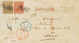 Holanda. SOBREYv 9, 12. 1868. 15 Cent Orange Brown (Type I, Perforation 12¾ X 11¾) And 50 Cent Gold (Type I, Perforation - Holanda