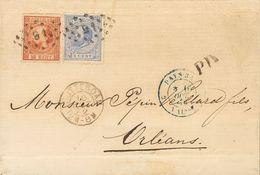 Holanda. SOBREYv 9, 19. 1872. 15 Cent Orange Brown (Type II, Perforation 14) And 5 Cent Blue Of 1872 Issue (perforation  - Holanda