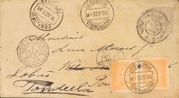 Holanda. SOBREYv . 1895. 12½ Cent Grey On Postal Stationery. THE HAGUE To VILA FRANCA DE XIRA (PORTUGAL), Readdressed To - Holanda