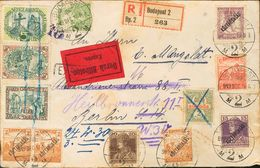 Hungary. COVERYv 198, 212, 213, 216. 1917. Different Values And Three 5 Fi Vignettes Allusive To The 1st World War. Regi - Hungría