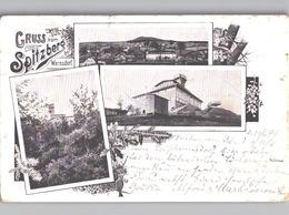 Gruss Vom Spitzberg Warnsdorf Varnsdorf, Mulitfotos, 1899 Gelaufen - Tschechische Republik