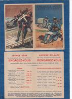 """Carte Double - """"Engagez Vous """" Dans Le Génie  - Illus. Leroux - Descriptif Intérieur,soldes - CPA 1930 - Patriotiques"""