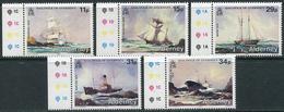 Alderney 1987. Michel #32/36 MNH/Luxe. Shipwrecks (Ts25) - Alderney