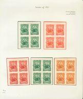 Nicaragua. (*)Yv . 1891. Espectacular Conjunto De ENSAYOS DE COLOR, En Bloques De Cuatro De Los Diferentes Valores De La - Nicaragua