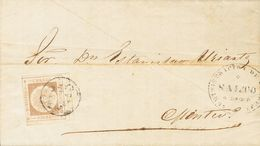 Uruguay. COVERYv 13(4). (1860ca). Interesting Set Of Four Letters Franked With The 60 Cts From Uruguay Of 1860 Two With  - Uruguay