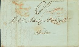 Venezuela. COVER. 1848. LA GUAYRA To LONDON, Addressed By The British Post Office. Postmark CORREO DE VENEZUELA / GUAIRA - Venezuela