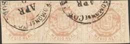 Venezuela. º16F(3). 1865. ½ Real Pink Lilac, Strip Of Three. POSTAL FORGERY. VERY FINE AND RARE. -- Venezuela. º16F(3).  - Venezuela