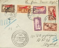 Siam, Airmail. COVERYv 30/33. 1930. Complete Set, 5 Pi Violet And 10 Pi Lilac Brown. Registered From DAMASCO To BAGDAD ( - Siam