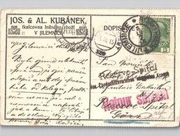 Jilemnice Starkenbach Reichenberg, Krankenhaus Reserve-Spital 1915 Viele Stempel - Cartas