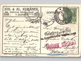 Jilemnice Starkenbach Reichenberg, Krankenhaus Reserve-Spital 1915 Viele Stempel - Storia Postale