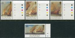 Alderney 1992. Michel #55/58 MNH/Luxe. Ships. (Ts10) - Alderney
