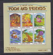 MWD-DSN010 MINT PF/MNH ¤ KOMPL. SET / BLOCK OR SHEET ¤ THE WORLD OF WALT DISNEY -- FRIENDS OF WALT DISNEY - Disney