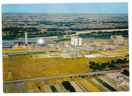 Cpsm: 37 CHINON - La Centrale Nucléaire D'Electricité De France En Cours D'Achèvement - Vue Aérienne - Chinon