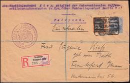 Germania-Frankatur R-Feldpost-Brief Waffenstillstandskommission Aus Spa 1919 - Besetzungen 1914-18