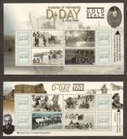 Antigua & Barbuda MNH Limited Edition Set  1 WORLD WAR 2 D-DAY -GOLD & JUNO BEACH - Guerre Mondiale (Seconde)