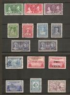 NEWFOUNDLAND 1937 - 1947 COMMEMORATIVE SETS FINE USED Cat £39 - 1908-1947