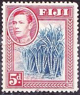 FIJI 1938 KGVI 5d Blue & Scarlet SG258 MH - Fiji (...-1970)