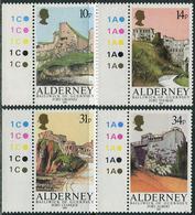 Alderney 1986. Michel #28/31 MNH/Luxe. Fortresses Of Alderney (Ts36) - Alderney