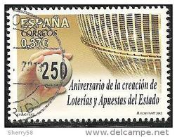 2013-ED. 4821 - SERIE COMPLETA-250 ANIV.CREACION LOTERÍAS Y APUESTAS DEL ESTADO- USADO - 2011-2020 Usados