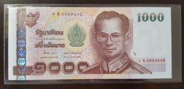 Thailand Banknote 1000 Baht Series 15 P#115 Type2 SIGN#84 Replacement 1Sพ UNC - Thailand