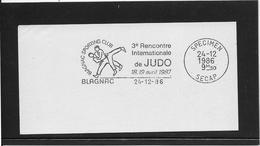 Thème Judo  - Jeux Olympiques - Sports - Flamme Secap SPECIMEN - Judo