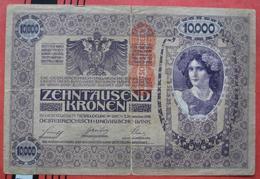 """10000 Kronen 2.11.1918 (WPM 64) - Overprint / Überdruck """"Deutschösterreich"""" - Austria"""
