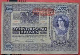 """10000 Kronen 2.11.1918 (WPM 65) - Overprint / Überdruck """"Deutschösterreich"""" - Austria"""